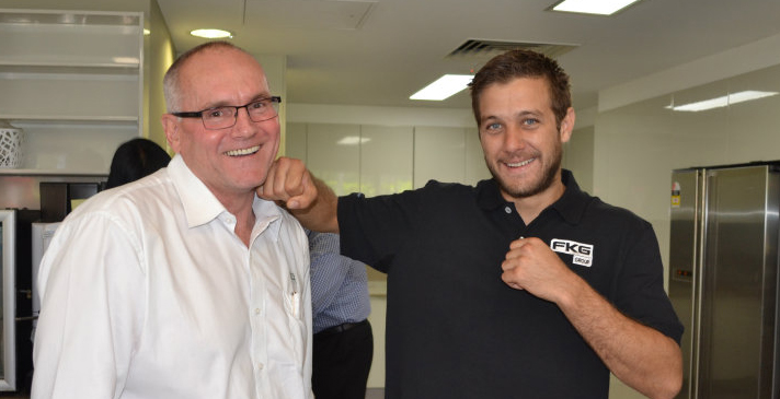 As part of Safe Work Month, the Brisbane office heard from guest speaker Ben Horn, who swapped a career in carpentry to join his brother Jeff Horn in the boxing world.
